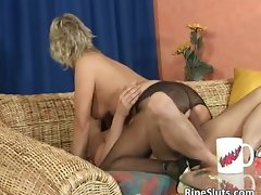 Sexual light-haired aged teacher is filthy as she part6