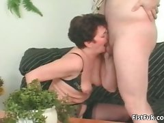 Attractive mature nympho having fabulous muff fisting part4