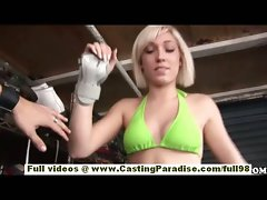 Lilly Lebeau blondie barely legal teen with natural hooters stroking prick in public