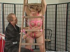 Attractive mature blond Big beautiful woman nympho entangled part3