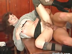 Lusty blondie mama in stockings is banged part3