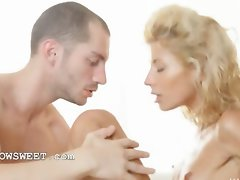 Amazing blond Stephanie screwed by lover