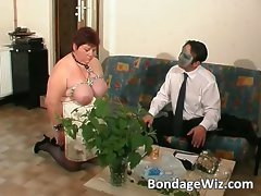 Tied up fatty aged vixen delighting part4