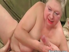 Plump attractive mature blond gets beefy snatch part2