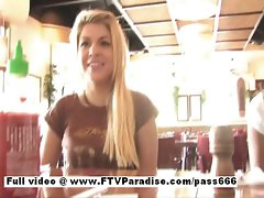 Cool lass Lilah sensual dark haired lassie public flasing hooters