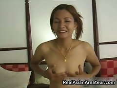 Little tiny breasts asian young woman screws a raging part5