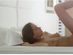Just married juicy young lady in art movie