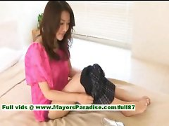Mai Uzuki innocent slutty asian cutie gets undressed and kissing