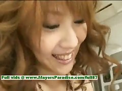 Erika Kurisu innocent seductive asian young lady is lickedby her loverboy