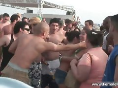 Rough party time on the beach and slutty chicks part5