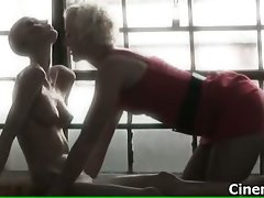 Sexual blondie young lady gets alluring making out part5