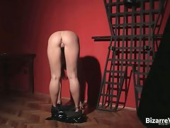 Alluring and kinky blond Greta stripping part1