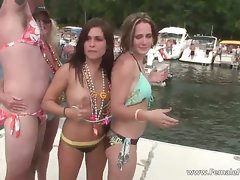 Attractive Cute chicks Party Brutal On Boat During part4