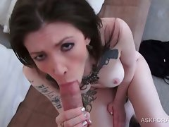Dark haired vixen gets an orgasmic pussy fuck