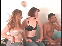 Attractive lad loses undies in a truth or dare game