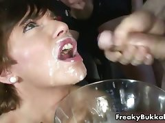 Sexual cutie gets covered with loads of cum part4