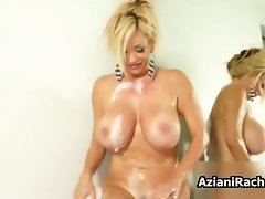 Filthy blond young woman gets attractive rubbing her part5