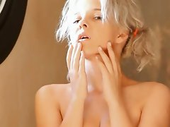 Shaving of nice looking barely legal tempting blonde vulva
