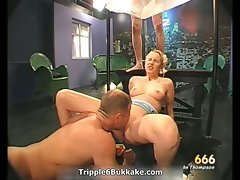 Sensual light-haired hussy gets her cunt fondled part2