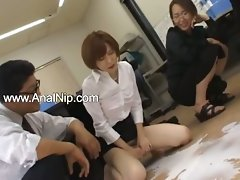 Asian secretary from Tokyo with dirty ass milk