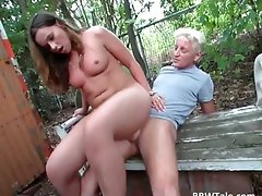 Buxom blond cutie with wild hooters receives part2