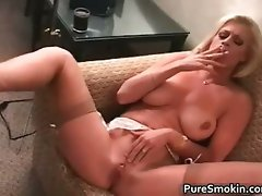 Brooke Smokes And Rubs Her vagina part4