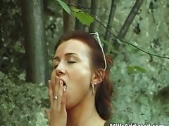Amazing attractive dark haired vixen fingering part6