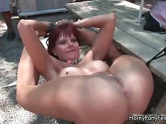 Filthy redhead bitch gets raunchy showing part4