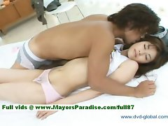 Yuzuru innocent beauteous jap lass gets nipples fondled and teasing