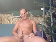 german man jerk garden outdoor
