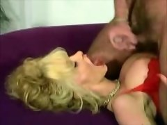 Big-Breasted Blond german Cougar gets a fabulous facial (clip)