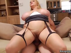This fatty mother gets banged brutal by a 19yo prick
