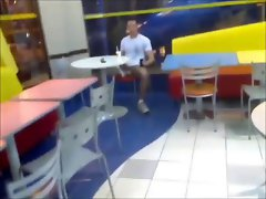 Public flashing in a busy McDonalds