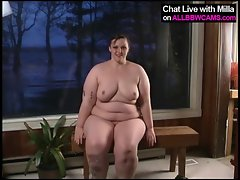 princes buxom Fatty in wooden cabin