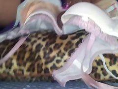 best ever sex on sister's bras with her leopard cushion