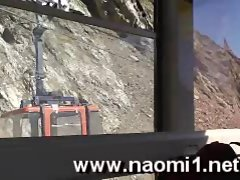 Naomi1 nude in public and cock sucking in a cable car