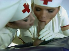Zoe 18yo & Sabrina Jade - Latex Nurses Rectal