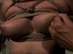 Mistress Find enjoyment in Pinching Her Tied Slaves Nipples!!!!!!!