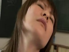 Sensual japanese student banged by white dude