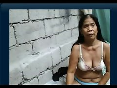 55yr older Filipina Granny gets Naked on Cam