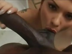 Katja Kassin caresses Lexington Steele close up - DG37