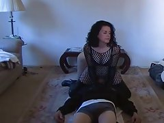 Dominant dirty wife makes him worship her twat