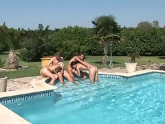 4some in swimming pool