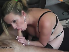 English Filthy bitch gets spunked over