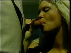 Tempting blonde wench kneels to suck pecker then bends over for outdoor doggy-style fuck