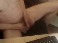 Hung experienced man blowing with audio