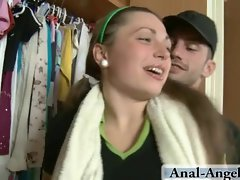 Obscene chick accepts his huge pecker to all her holes!