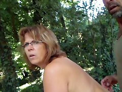 helene nude in the garden