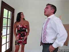 Mackenzee Pierce is a big titted brunette, bangs married man