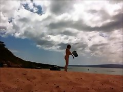 Maui beach nude female 1